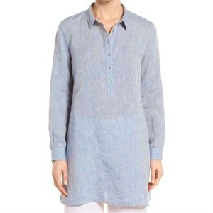 Eileen Fisher Handkerchief linen shirt tunic top
